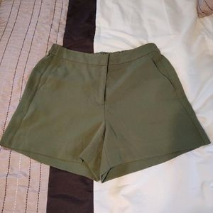 J crew size 10 army green olive casual shorts